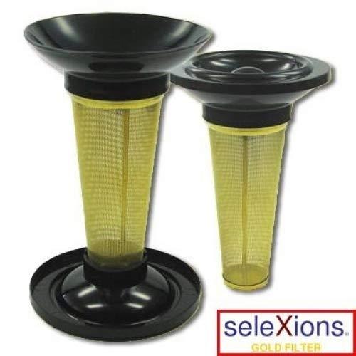 Teefilter seleXions Tee Filter Teekannenfilter Goldfilter mit Titan Hartschicht, mit Tropfstop-Deckel, groß für alle Tee- und Isolier- Flaschen und Kannen Ilggro GmbH