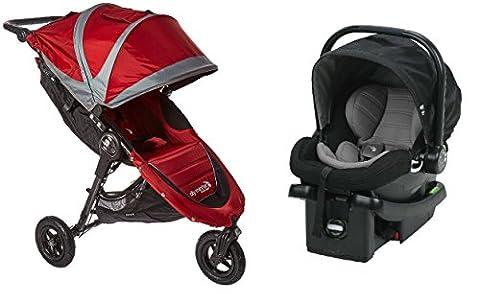 Baby Jogger 2016 City Mini GT Travel System in Crimson/Black