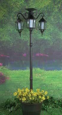 "Madison Light Post Lamp 79"" H X 22"" W X 22"" D Glass Black"