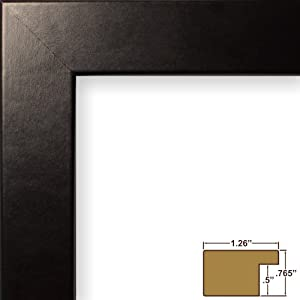 24x34 picture poster frame smooth finish 125 wide black 26020