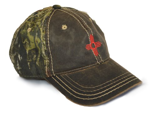 New Mexico State Flag Camo Baseball Hat | Camouflage New Mexican Golf Cap