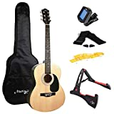Martin Smith W-101-N-PK Acoustic Guitar Super Kit with Stand (Natural)