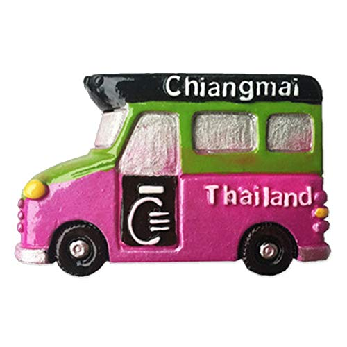 Song Car Thailand Magnets Refrigerator Stickers Resin 3D Funny City Tourist Souvenirs Magnetic Fridge Magnet for Whiteboard Home Kitchen Decoration Accessories Gifts