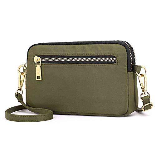 GEEAD Small Shoulder Bags for Women Waterproof Nylon Crossbody Bag Purse Zipper (Green)
