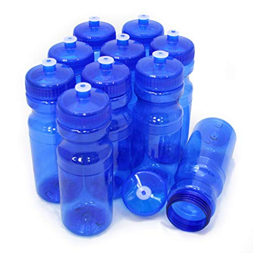 - Rolling Sands BPA Free 24oz Drink Bottles Blue (10 Pk, Made in USA)