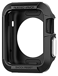 Apple Watch Series 3/Series 2 Case 42mm, Apple Watch Case, Spigen Rugged Armor - Resilient Shock Absorption for 42mm Apple Watch Series 3/2/1/Original - Black