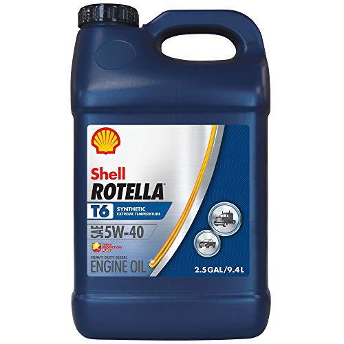 Rotella T6 Synthetic Diesel Motor Oil 5W-40 CJ-4, 2.5 Gallon - Pack of 1