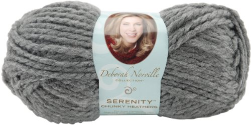 Collection Heather - Premier Yarns Deborah Norville Collection Serenity Chunky Weight Heathers Yarn: Smoke