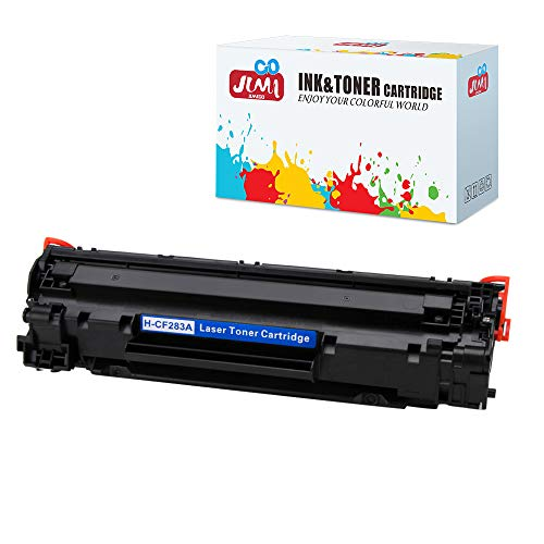 JIMIGO 1 Black 83A CF283A Compatible Toner Cartridges Replacement for HP 83A CF283A, Work with HP Laserjet Pro M201dw M201n, MFP M127fw M127fn M127fp M127fs M225dw M225dn M125nw M125rnw M125a Printer