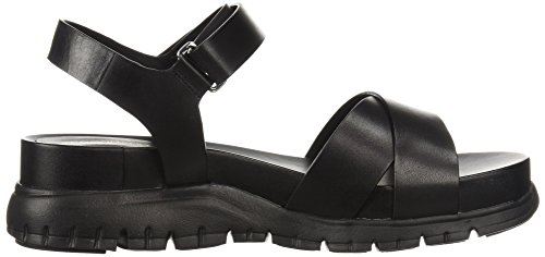 Women's Flat Ii Sandal Zerogrand Leather Haan Cole Black 6wP5v