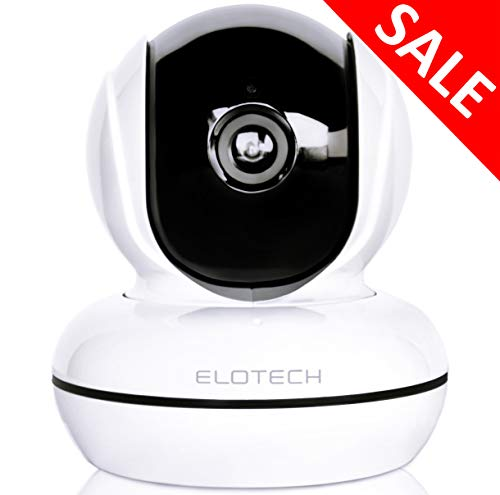 ELOTECH Home Security IP Camera 1080p HD, Wireless Wifi Smart Indoor Camera with Night Vision, Two Way Audio, Motion Sensor, Pan Tilt, SD Card Slot for Baby, Kids, Pet, Nanny Monitoring
