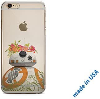 finest selection acf7b 34ae9 ZIZZDess Cute Droid Case for iPhone 8 Plus iPhone 7 Plus 2017 2016 New  BeeBee-Ate Present Lightweight Protective Silicone C3PO Android R2D2 Gift  Cover ...