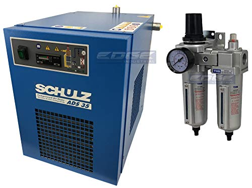 Schulz REFRIGERATED AIR Dryer for AIR Compressor, Compressed AIR Systems, 35 CFM, Good for 7.5HP & 10HP AIR COMPRESSORS (with Regulator PRE-Filter)