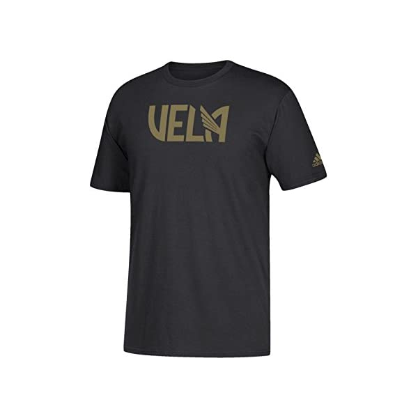 a04d28700ec adidas Carlos Vela LAFC MLS Go to Tee Black Gold Short Sleeve T-Shirt