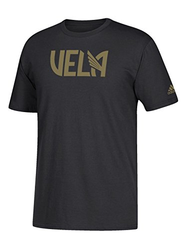 adidas Carlos Vela LAFC MLS Go to Tee Black Gold Short Sleeve T-Shirt