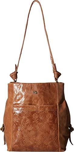 Bag Embossed Bucket - The Sak Women's Runyon Bucket Bag Tobacco Floral Embossed One Size