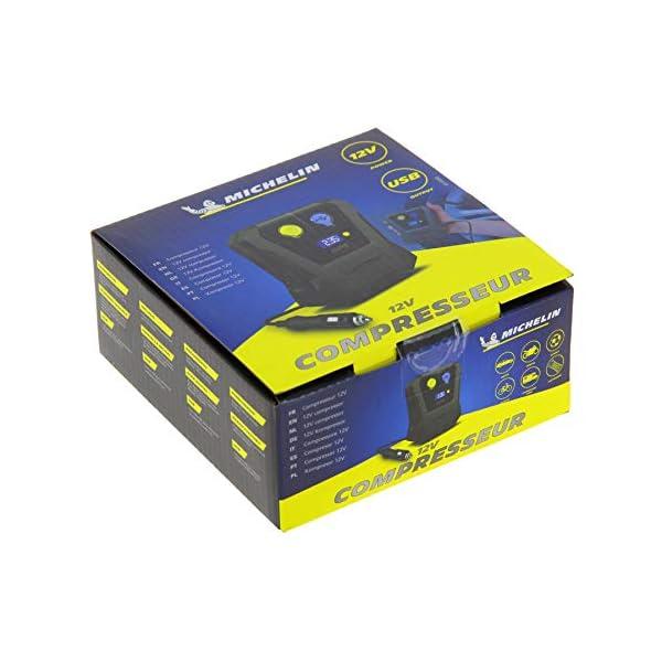 MICHELIN 009518 Mini Compresor Digital, 12V, AUTOMOVIL, Norme