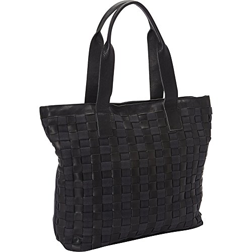sharo-leather-bags-leather-weave-tote-with-black-canvas-black