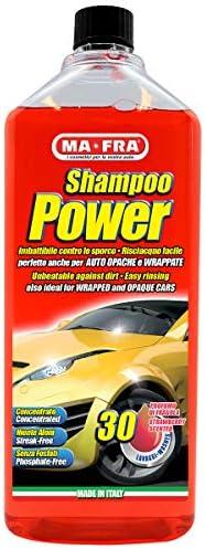 Mafra, Shampoo Power, Detergente Auto Sgrassante e Concentrato, Facile da Risciacquare, non Lascia Residui e Aloni, nel Formato da 30 Lavaggi