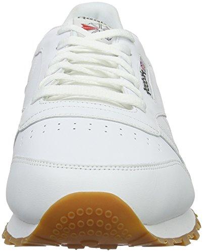 Reebok Classic Leather - Zapatillas de cuero para hombre Blanco (White / Gum 2)