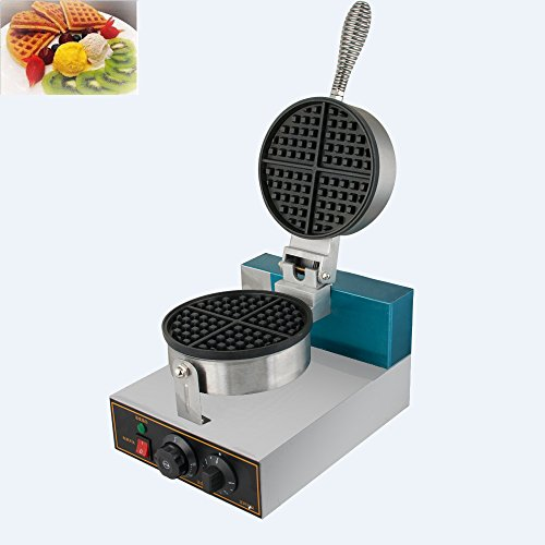Zinnor Commercial Waffle Bake Machine 110V Electric QQ Egg Cake Oven Puff Bread Maker Stainless Steel Kitchen Restaurant Double-sided Pie Baking Pan Heating Muffin Machine Delicious Fried Food Snacks