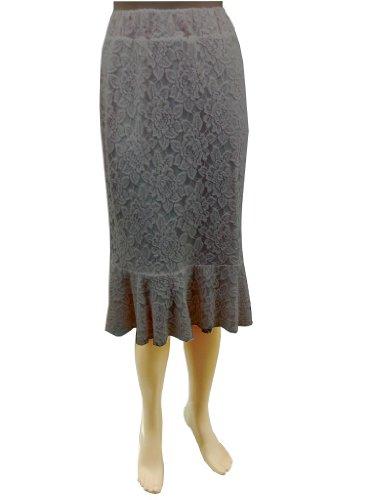 BabyO-Womens-Stretch-Lace-Peplum-Skirt