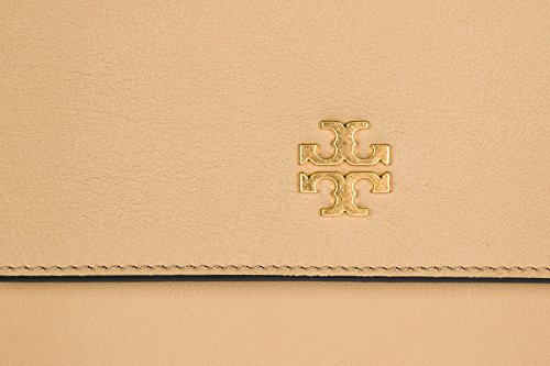 Tory Burch borsa donna a spalla shopping in pelle nuova brooke beige