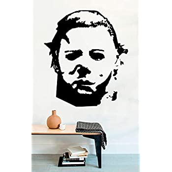 Michael Myers Dead Horror Vinyl Wall Decals Halloween Decor Stickers Mural MK3390