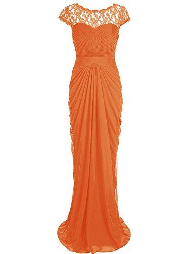 Gown of Chiffon Orange The ASBridal Evening Bride Mother Women Dress s Long Bridesmaid wCPAFHq