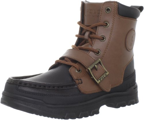 Polo by Ralph Lauren Camp Lace-Up Boot (Toddler/Little Kid/Big Kid) - stylishcombatboots.com