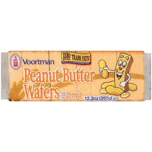 Peanut Butter Wafers (SUGAR WAFERS COOKIES VOORTMAN BRICK PACK PEANUT BUTTER 12.3 OZ)