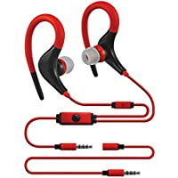 Sentry Sport Series Premium Wrap Around Buds with In-Line Mic, H5001, Red