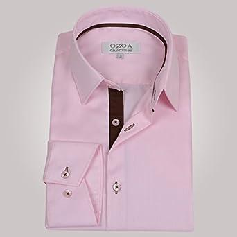 Ozoa-Camisa para hombre, diseño de rosas con ángulo camisa CINTREE ...