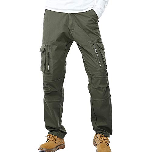 Vert Homme Travail Doublé Pants Multi De Pantalon Militaire Cargo Vintage Casual Polaire Vertvie Loisir Armé Poches Avec Chaud YpaBf