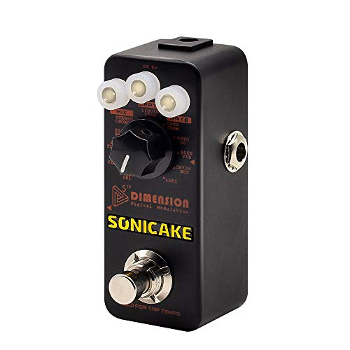 Sonicake Chorus Vibrato Flanger Guitar Effects Pedal 5th Dimension of 11 Digital Modulation with Phaser, Tremolo, Univibe, Auto Wah & Sampling