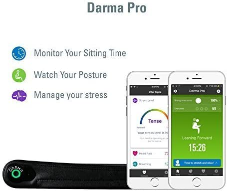 DARMA Pro Comfort Foam Seat Cushion Posture Coach and Activity Tracker, iOS/Android