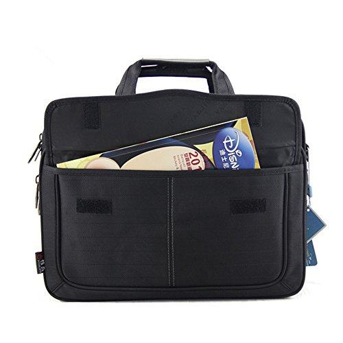 Wewod Hombres 16 pulgadas Gran Capacidad Negocios Impermeable Maletín Bolso de Bandolera Bolsa de Mensajero de Viajes Tote para Ordenador Portátil y Tabletas 39.5 x 30 x 15.6 cm (L*H*W) (Gris) Gris