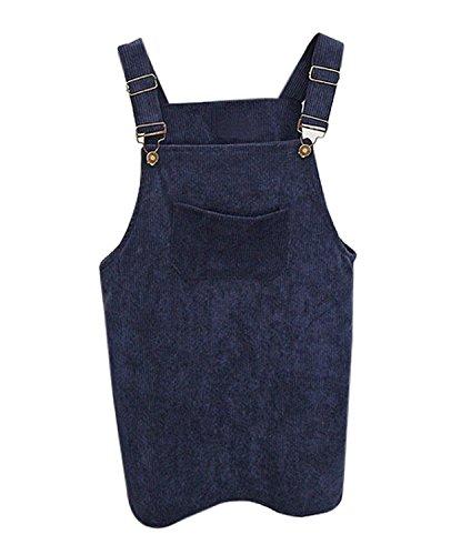 Robe Salopette Minetom Chic Bleu Souple Denim Femme Jupe Sangle en Nu Chic  en Mini Skirt ... 848c346fc66