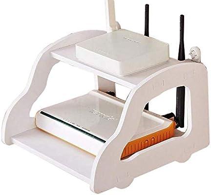 HYBUKDP Carga de la Caja de Cable de Pared Router portacargas de la TV con Styling Set Top Marco Flotante Estante de Almacenamiento: Amazon.es: Hogar