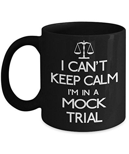 Lincoln Lawyer Costume (Mock Trial Mug, I Can't Keep Calm I'm in a Mock Trial, Funny Lawyer Gifts, Keep Calm Mug, Scales of Justice ~ 11 oz Ceramic Mug)