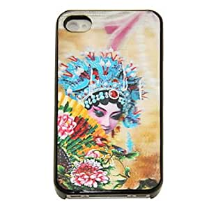 TOPQQ ships in 48 hours 3D Changeable Peking Opera Character Pattern Hard Case for iPhone 4/4S