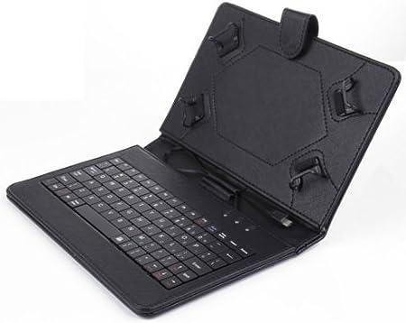 XIDO Universal Funda con Teclado Tablet Pc 10 Pulgadas Caso Tablet de 10.1 Pulgadas con el Teclado, Soporte de Cuero de la PU Cubierta de la Caja + ...
