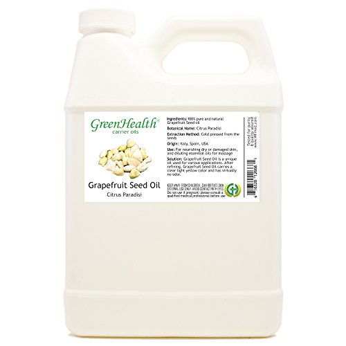 Grapefruit Seed Oil - 32 fl oz (946 ml) Plastic Jug w/Cap - 100% Pure Carrier Oil - GreenHealth