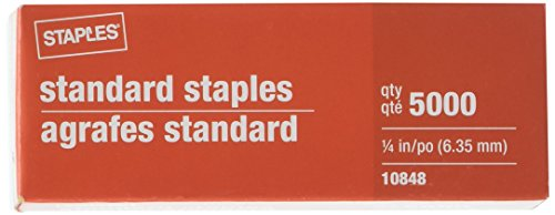 Staples Standard Staples 5 Boxes - 25000 Staples