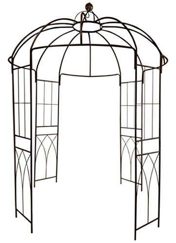 OUTOUR French Style Birdcage Shape Heavy Duty Gazebo,9'Highx 6'6