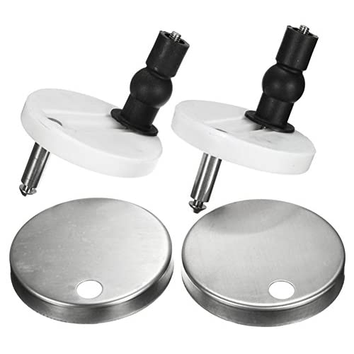 best Gogoforward 2PCS/Set of Replacement Toilet Seat Hinge Mountings
