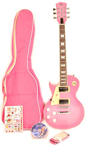 SX GE Rose 2K Pink Left Handed Electric Guitar 7/8 Size with Bag and Strap and Instructional DVD
