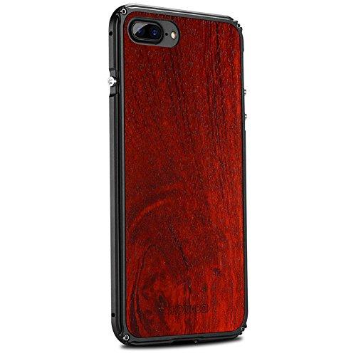 Vuage(TM) iPhone 7プラス7 6S 6プラスオリジナルの木製+メタルフレーム完璧な統合携帯電話のカバーケース新のために天然木の電話ケース B07BS433GS iPhone 7プラス1の場合 iPhone 7プラス1の場合