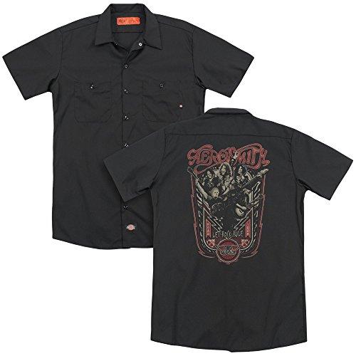 uomo T shirt a da maniche Aerosmith corte nero zF1q4