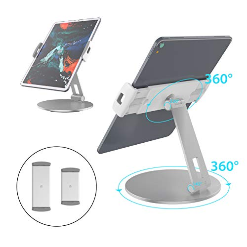 Stouchi iPad Pro 12.9 Stand, 360°Tablet Swivel Base Stand Tablet Holder Stand for iPad, Adjustable Desk Mount Holder for POS Kiosk, Surface Pro 4, New iPad Pro iPad Mini fits 4-14